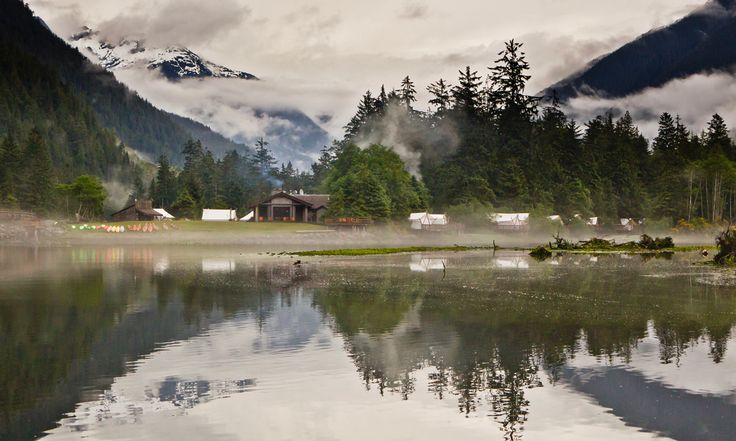 Located about 200 miles northwest of Seattle, the Clayoquot Wilderness Resort features luxury tent accommodations on Vancouver Island. The quoted nightly rate of $3,347 per couple during summer months will certainly induce sticker shock for those of us not named Gates or Bezos -- and maybe even for them, too -- but guests pay for much more than a minibar and a complimentary pillow mint.