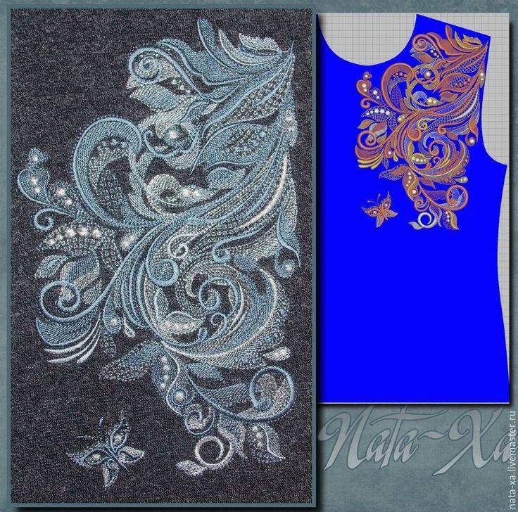 Машинная вышивка как стыковать дизайн