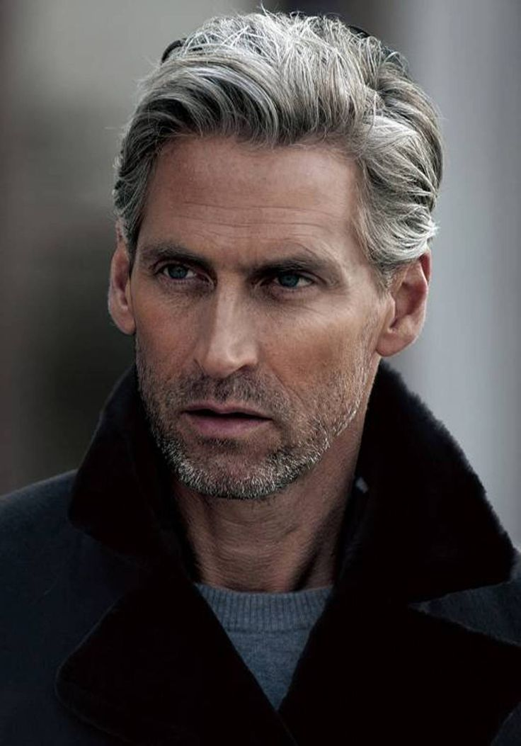 Grey Mature Mens Hairstyles