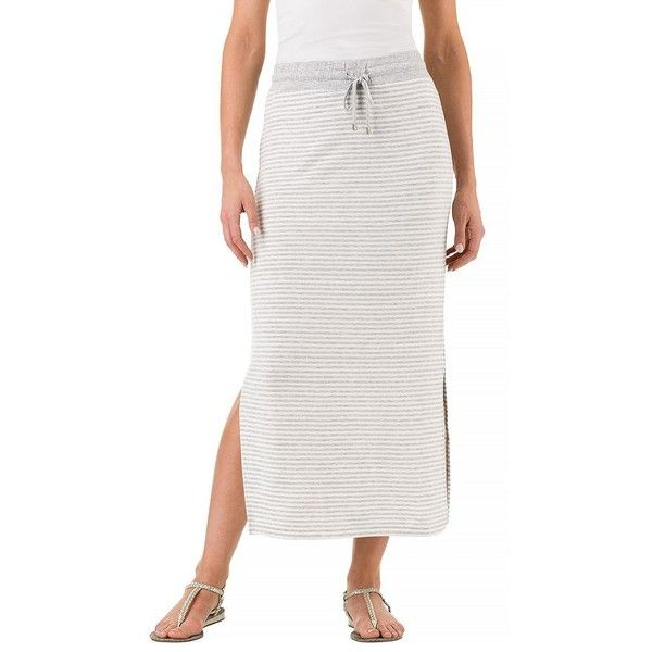 Women's Haggar Striped Maxi Skirt ($56) ❤ liked on Polyvore featuring skirts, dark grey, dark grey maxi skirt, long print skirt, striped maxi skirts, stripe long skirt and patterned maxi skirt
