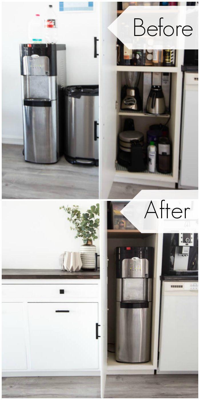 Our Hidden Water Cooler Love Create Celebrate Hidden Water Cooler Water Dispenser Design Water Cooler