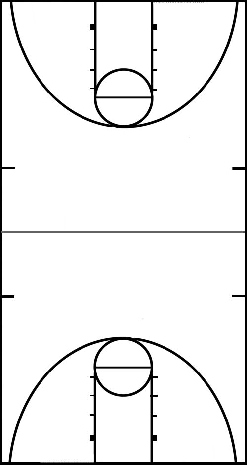 10 basketball court clip art.