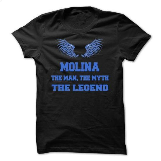 MOLINA, the man, the myth, the legend - #womens hoodie #design tshirts. PURCHASE NOW => https://www.sunfrog.com/Names/MOLINA-the-man-the-myth-the-legend-avpvhikmsq.html?60505