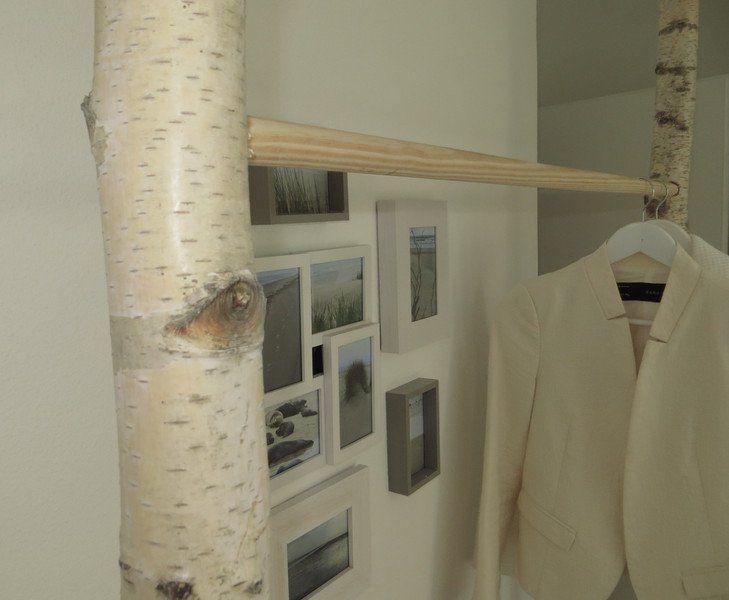 Kleiderschränke - Kleiderstange Birke mit Holz- oder Metallstange - ein Designerstück von baba101986 bei DaWanda