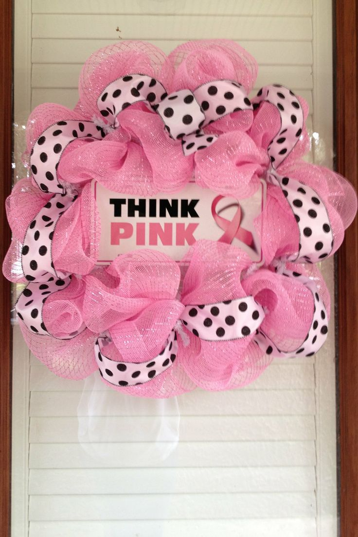 Breast cancer ornament - Breast Cancer Awareness Wreath Would Love To Have This For My Front Door