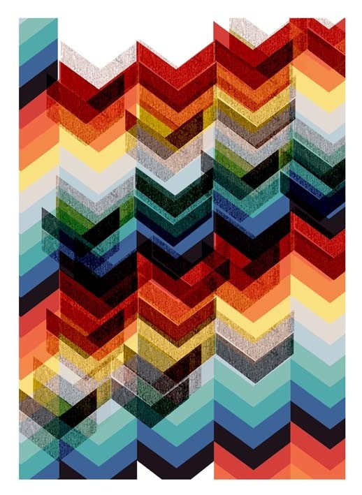 Chevron Multicolour - large print $33.00
