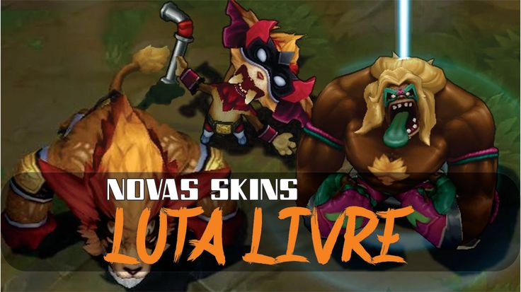 Novas skins - Luta Livre - Gnar e dr. Mundo - League of Legends
