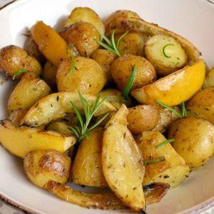 pommes de terre au four citron et romarin