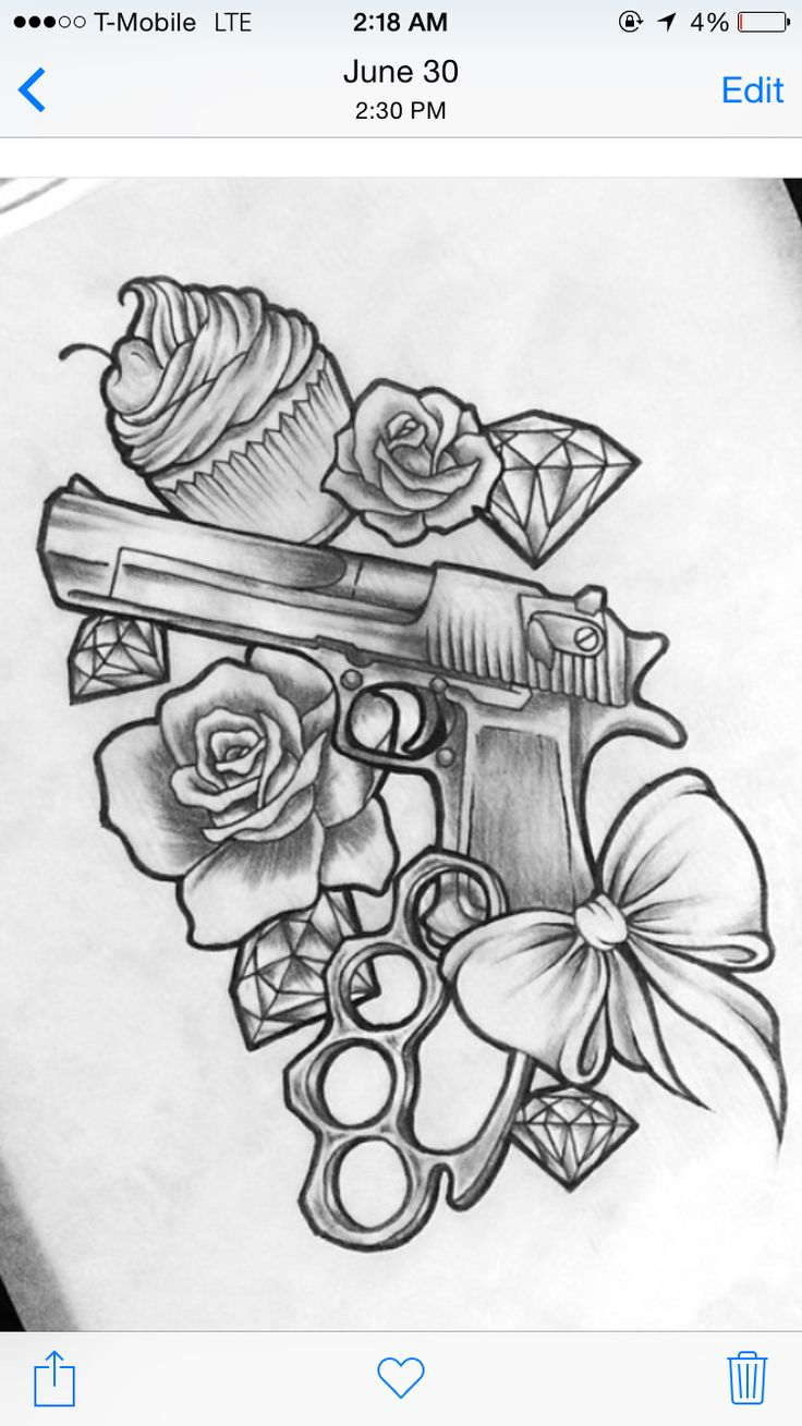 Gangsta Drawings With Guns Best 25+ Gun ta...