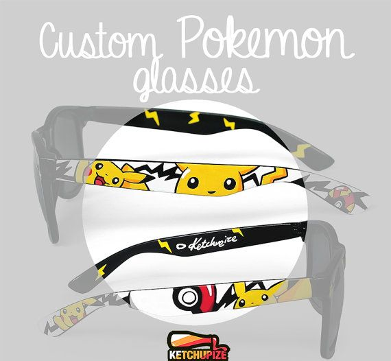 Custom made Pokemon Sunglasses and clear lens glasses by Ketchupize