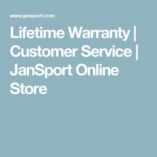 Lifetime Warranty | Customer Service | JanSport Online Store