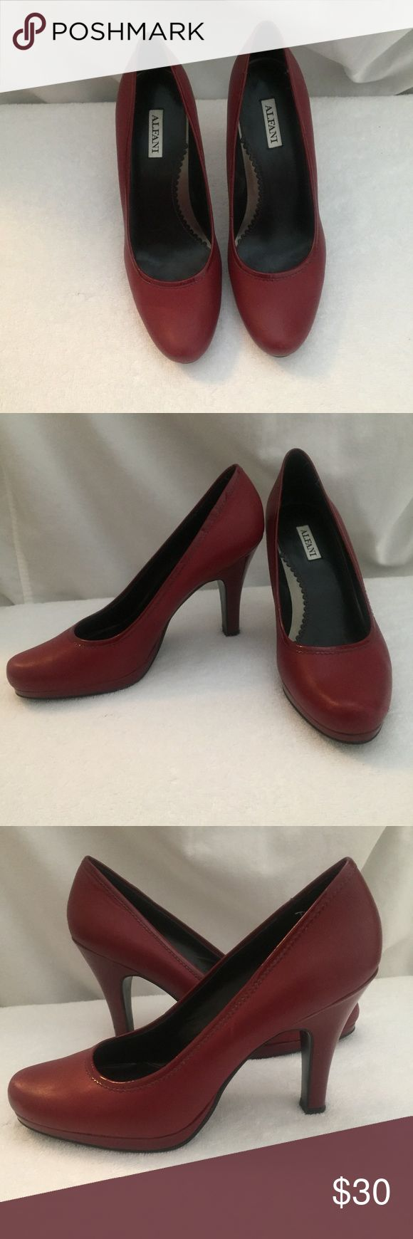 Perfect for the office, stylish and comfortable Alfani dark red ladies pumps, very nice in great condition, worn twice. Alfani Shoes Heels