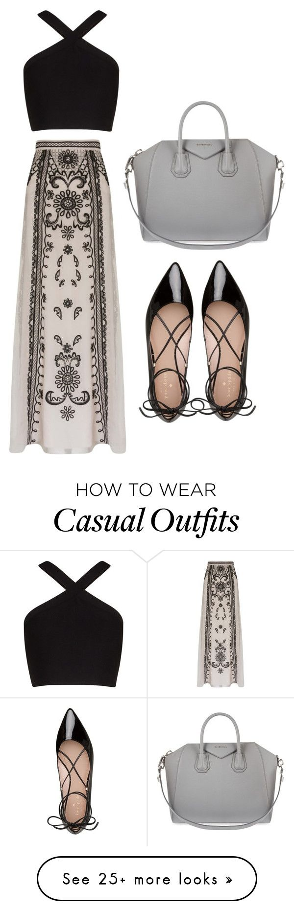 """""""Casual"""" by dzenita-2190 on Polyvore featuring Temperley London, BCBGMAXAZRIA, Kate Spade and Givenchy"""