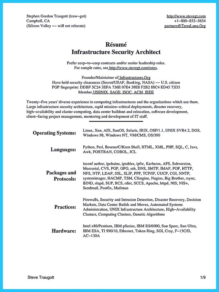 System Architect Sample Resume. It Director Sample Resume - It