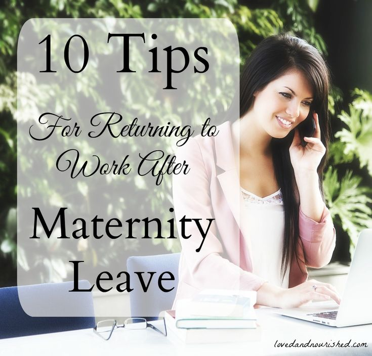 If your maternity leave is coming to an end, don't fret! Read these ten tips for successfully transitioning back to work. You and your baby will get through this!