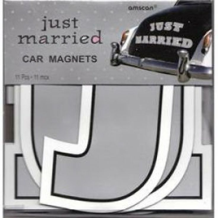 Just Married Car Magnets 267 248890just Magne Whole Wedding Supplies