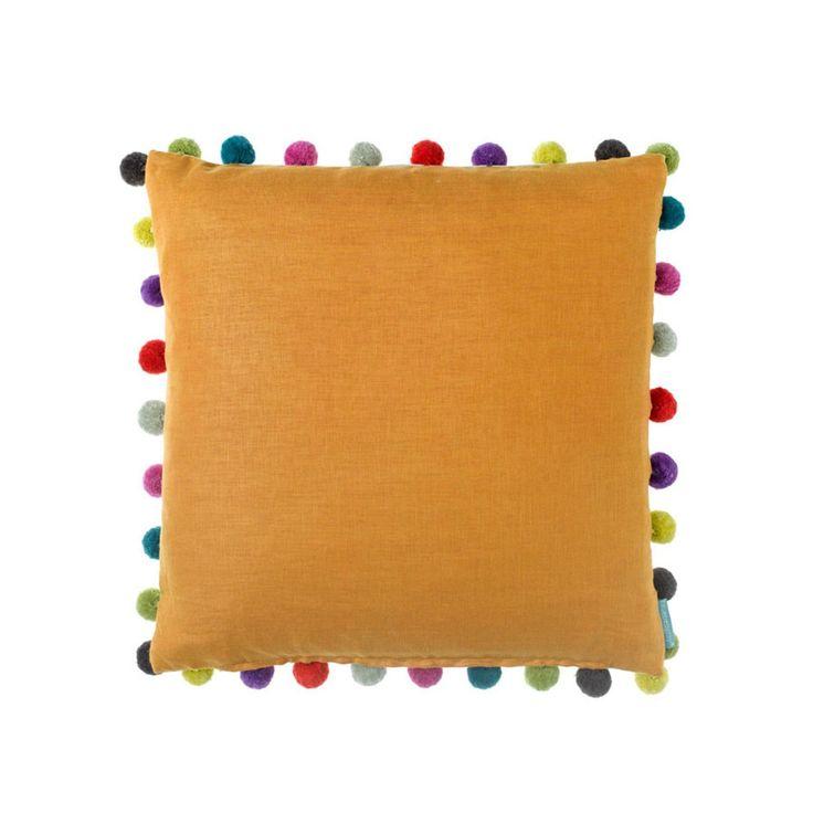 Elie Saffrano Pompom Cushion