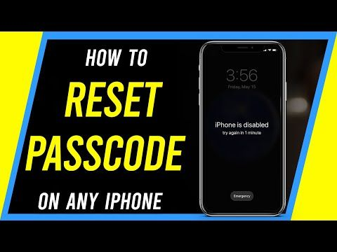 How To Reset Your Iphone If You Forgot Your Passcode Even If Disabled Youtube Iphone Pop Up Screens Disability