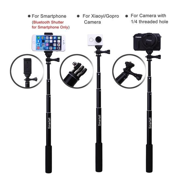"Extendable Waterproof Gopro Wireless Bluetooth Remote Camera Shutter Selfie Stick 39"" Monopod For Samsung C5 NOTE 7 Smartphones"