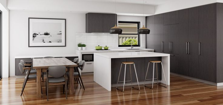 A design that encompasses both kitchen and dining area. Five Dock, NSW