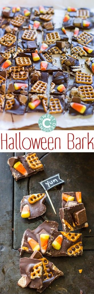 Halloween Bark- the most delicious and insanely easy treat you can make for halloween!