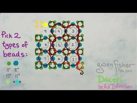 Animated How to Weave Super Right Angle Weave with Beads Illustrated with Doceri Software