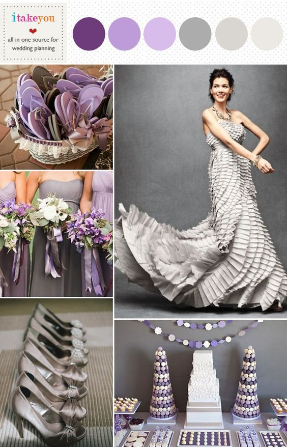 WEDDING PALLET SCHEMES | ... purple grey wedding color schemes,grey purple wedding colours palette: