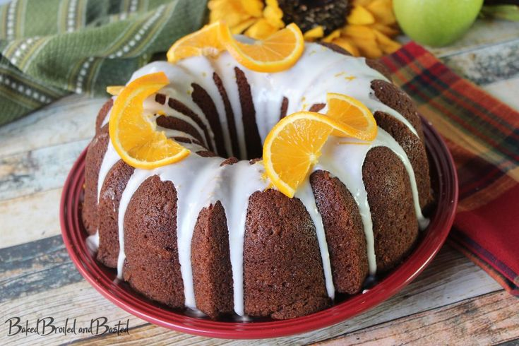Nothing bundt thankful for bundt cakes !!  LOL, seriously I love easy cakes baked in a simple tube pan with a nice thick glaze drizzled on it. This granny