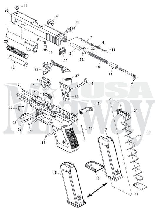 1126 best Glock 17 G17 9x19mm Magazine Loader RAE-703