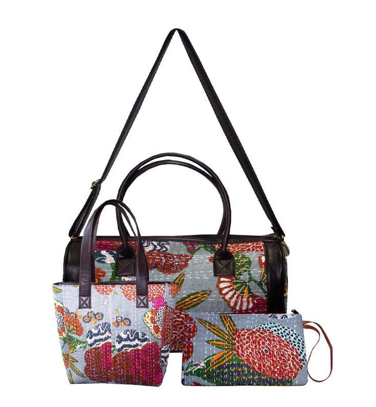 Hot Women's Handbag Travel Shoulder Bags Hobo Tote Bag Clutch Bag 3 Pcs Set  #Handmade #ShoulderBagToteBagClutchBag