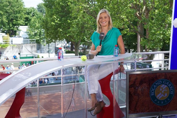 Eurosport journalist Barbara Schett