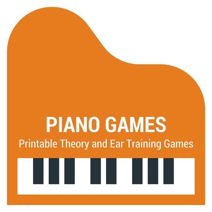 Printable theory and ear training games. 4 brand new games every month for just $8 at www.pianogameclub.com