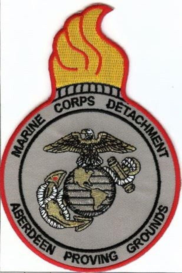 USMC Marine Detachment Aberdeen Proving Grounds PATCH MarDet Aberdeen Marines!