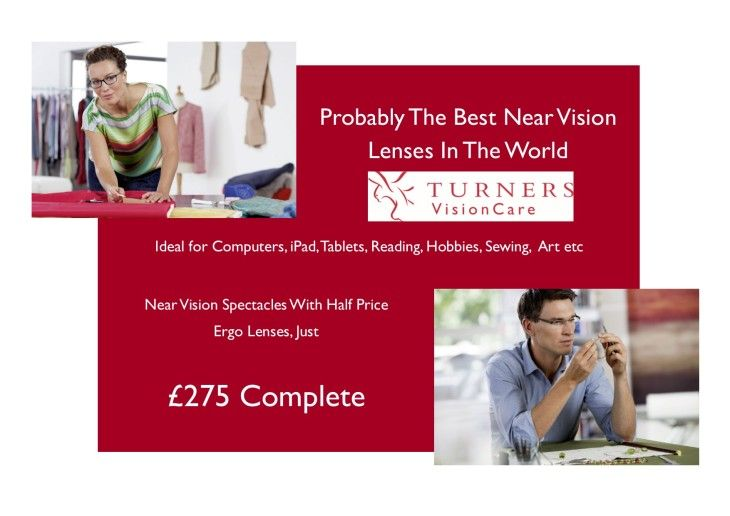 21st Century Reading Spectacles - Turners Vision  The Computer and Reading Spectacles Promotion that we have been running this year has been a HUGE success.  We have dispensed over 100 pairs and they are helping change the lives of screen users all over the area.  We have expanded this offer by introducing a whole new range of frames for men and women whilst keeping the same fixed price of £275 complete.  Offer expires soon!!