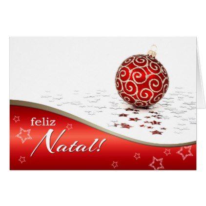 Feliz Natal. Christmas Cards in Portuguese - christmas cards merry xmas family party holidays cyo diy greeting card