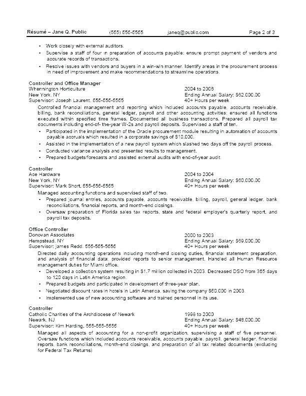 Accounts Payable And Receivable Resume Impressive Free Resume Templates Federal Jobs  Free Resume Templates .