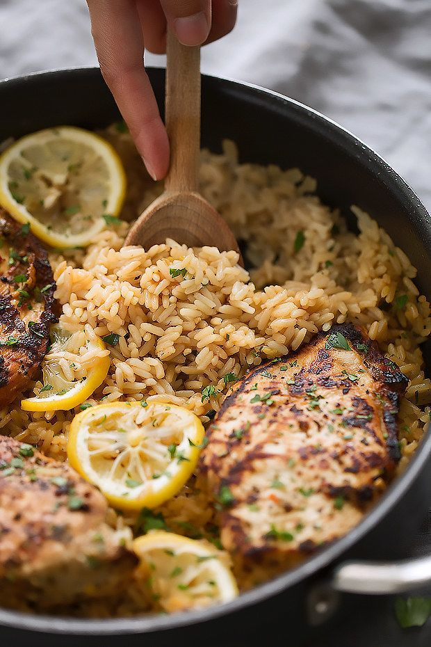 Greek Chicken and Rice Pilaf