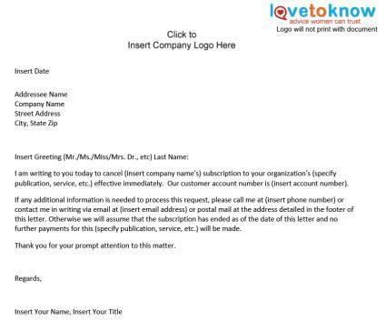 Printable Sample Termination Letter Form