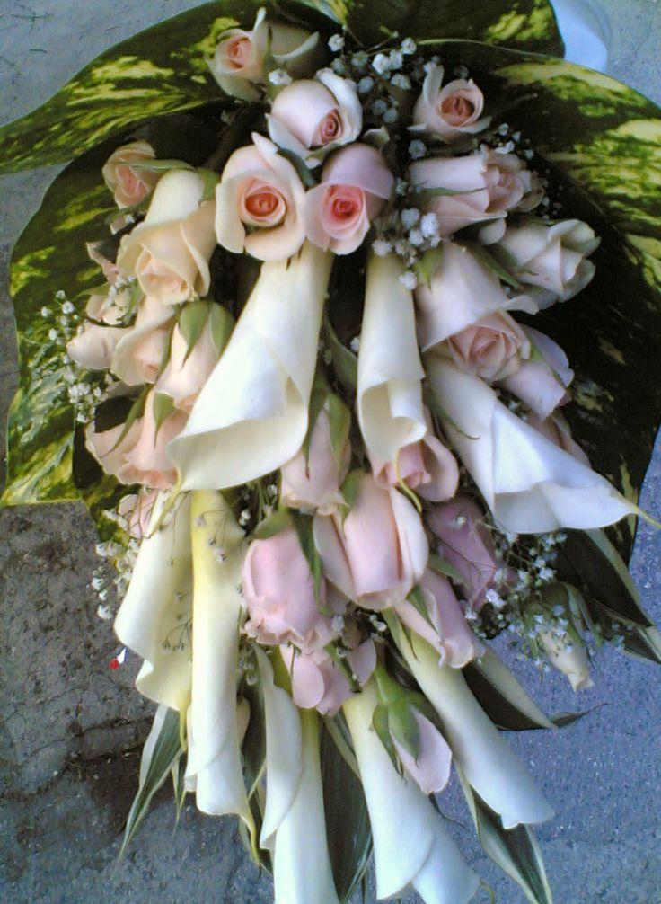 #bouquet #sposa con rose e calle