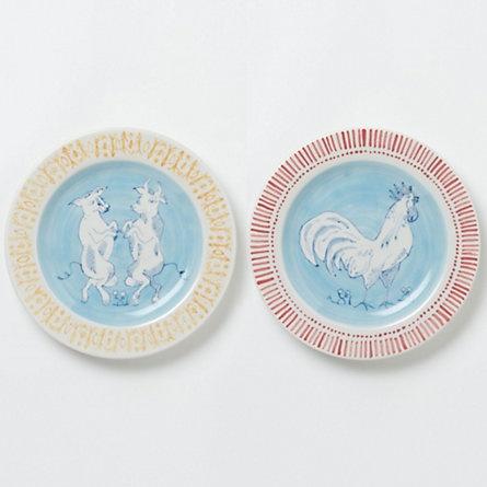 Seriously cute dinner plates! Farmhouse Dinner Plates   terrain.com