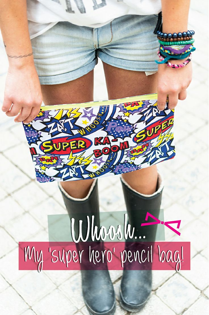 Whoosh... My 'super hero' pencil bag!