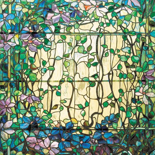 "Louis C. Tiffany: ""Glasfenster mit Clematis"""