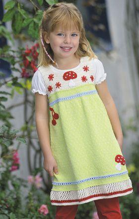 Strik en eventyrkjole - Strik til børn - Håndarbejde og strikkeopskrifter - Familie Journal
