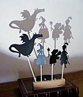 Shadow Puppets - neat way for stories to be told and acted out!