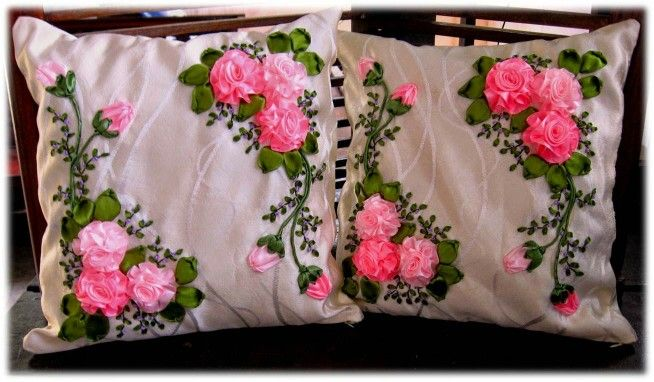 cushion cover - pink rose