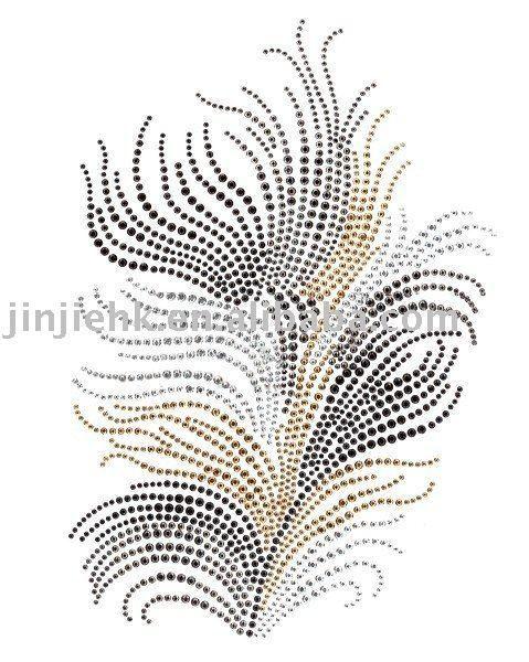 Rhinestone Feather: