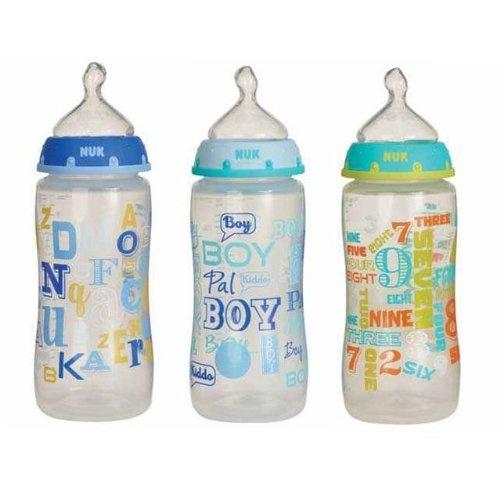 Gerber Nuk Baby Talk Trendline 3 Bottles Silicone « Clothing Impulse