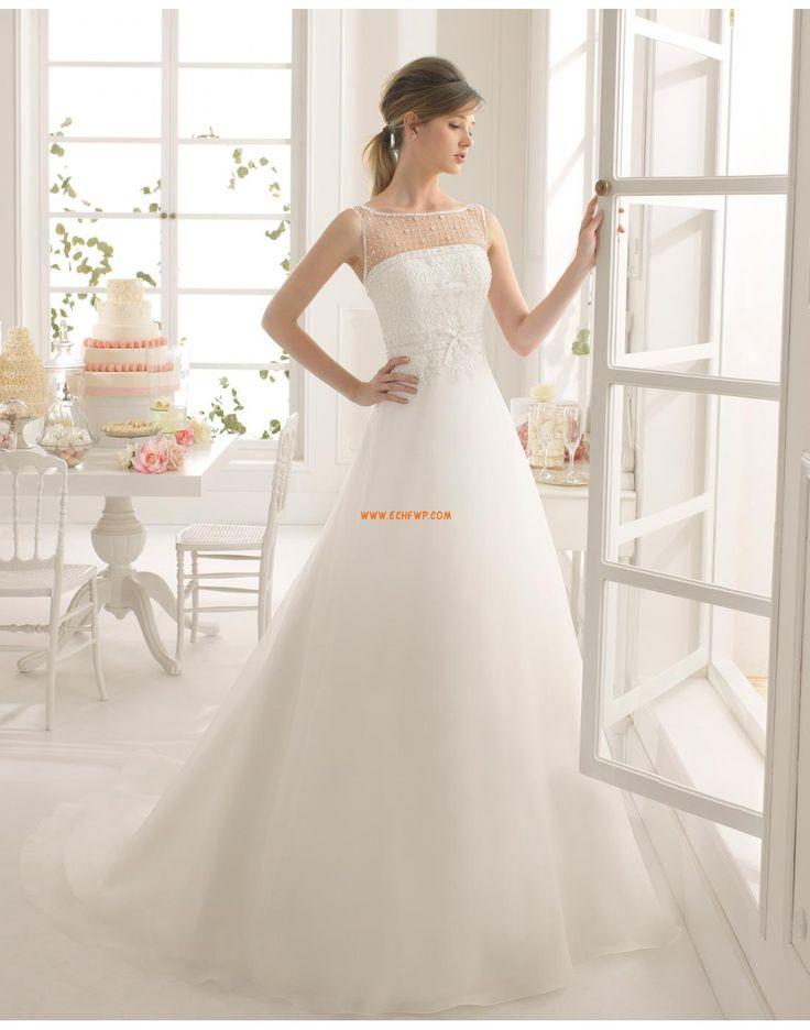 Hala Áčkový střih Bez rukávů Svatební šaty 2015