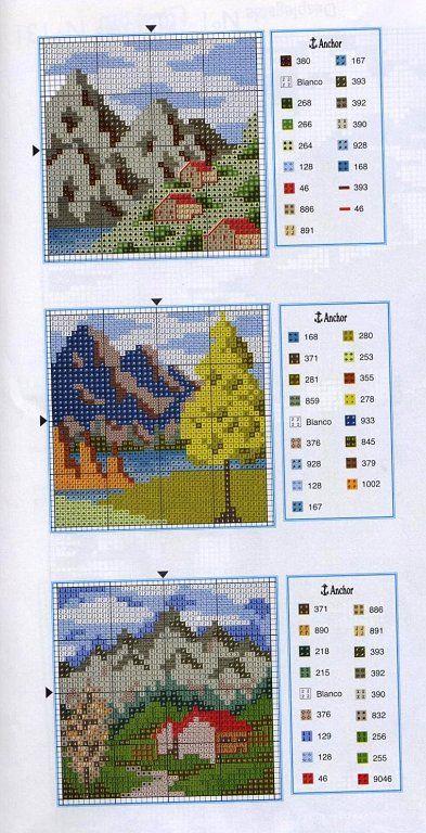 PAISAJES EN PUNTO DE CRUZ (pág. 7) | Aprender manualidades es facilisimo.com
