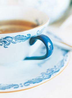 """A couple of """"Ostindia"""" by Rörstrand coffee cups."""